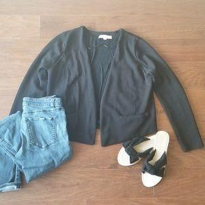 Ann Taylor LOFT Black Open Blazer Cardigan